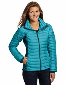 Columbia Women's Powerfly Hybrid Down Jacket, Emerald, X-Large