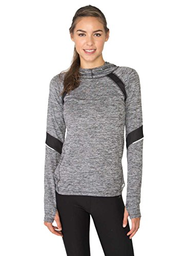 RBX Active Women's Space Dye Hoodie with Mesh Inserts & Reflective Trim