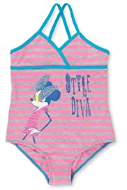 Minnie Mouse Striped Swimsuit [T74-8032W-S]
