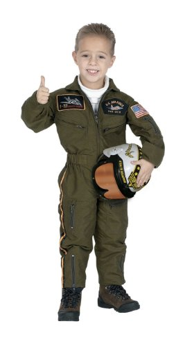 Child Air Force Pilot Costume with Helmet