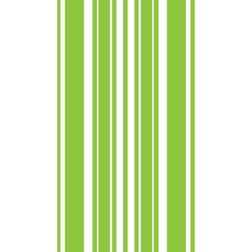 Creative Converting Coordinates Collection 16 Count Guest Towels/Large Napkins, Fresh Lime Stripe