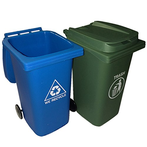 BigMouth Inc The Mini Curbside Trash and Recycle Can Set (Blue Recycling Trash Can compare prices)