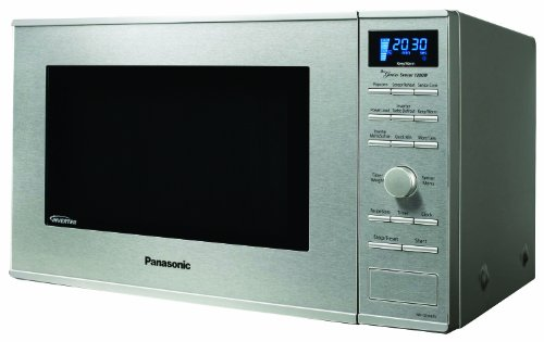 "Panasonic NN-SD681S Genius ""Prestige"" 1.2 cuft Watt Sensor Microwave with Inverter Technology & Blue Readout, Stainless Steel 1200"