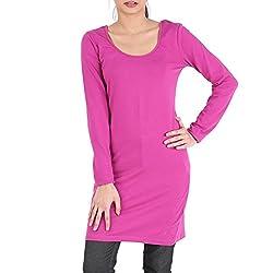 Avarnas Women's Tunic (AVTU011PNL_Fuchsia Purple_38)