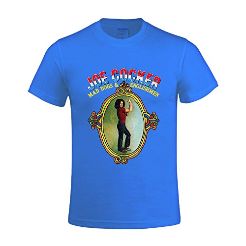 Joe Cocker Mad Dogs Englishmen Men's O-Neck Cotton T Shirts Blue (Joe Cocker Merchandise compare prices)