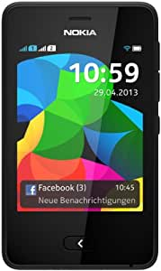 Nokia Asha 501 Smartphone (7.6 cm (3 inches) touch screen, Black.