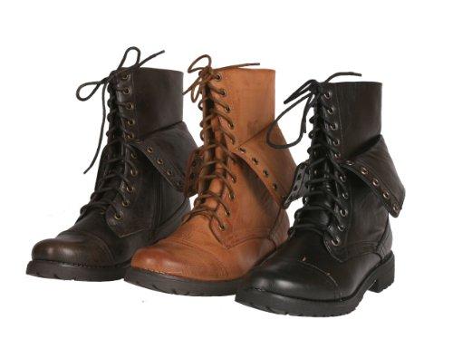 Neway Women's legend-03 Mid Calf Lace up Combat Boots by Beston