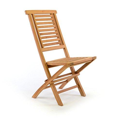 DIVERO-Natur-Gartenstuhl-klappbar-Hantown-aus-Teak-Holz-massiv-Klappstuhl-Teak-behandelt