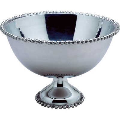 KINDWER Huge Beaded Aluminum Punch Bowl, 16-Inch, Silver (Huge Punch Bowl compare prices)