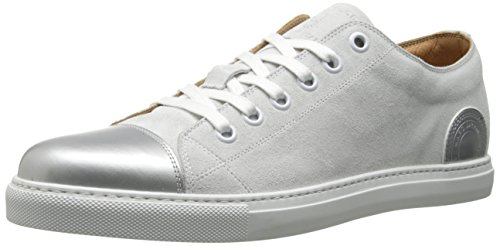 Marc Jacobs Men'S Calf Leather Mercer Fashion Sneaker, Moon, 43 Eu/9 M Us