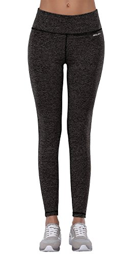 Aenlley Women's Activewear Yoga Pants High Rise Workout Gym Spanx Tights leggings Color Black Grey Size XL