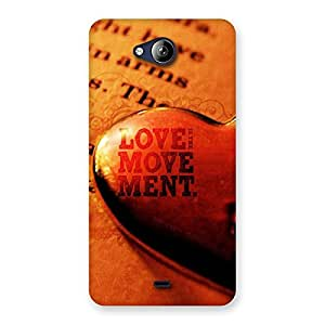 Gorgeous Love Movement Back Case Cover for Canvas Play Q355