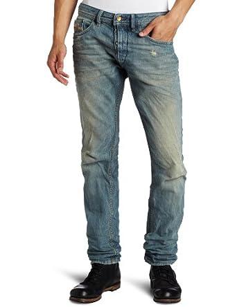 (2.4折)迪塞Diesel意大利产超酷做旧牛仔裤 Regular Carrot-Leg Jean $83.48