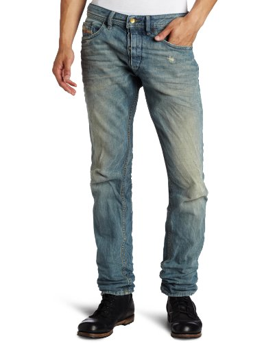 Diesel Men's Braddom Regular Carrot-Leg Jean
