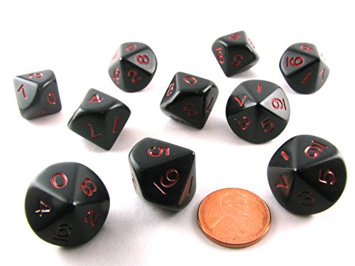 10 piece polyhedral dice set