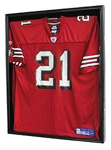 PRO UV Basketball, Football, Hockey Jersey Frame Display Case, LOCKABLE, (JC01-BL)
