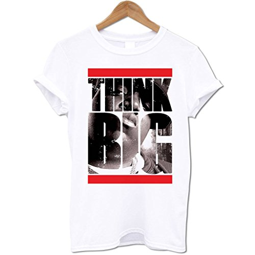 Bang Tidy Clothing Men'S Think Big Biggie Smalls T Shirt White S
