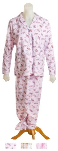 adonia mode Warmer Pyjama Flanell Langarm Mod.Lea Bärchen Gr.L
