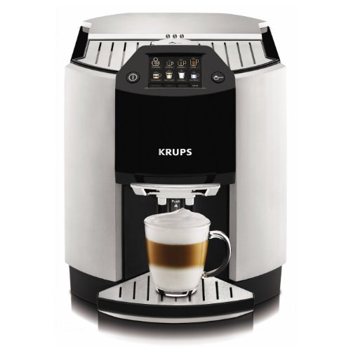 KRUPS EA9000 Barista Fully Automatic One Touch Cappuccino Machine with Automatic Rinsing and KRUPS Two-Step Milk Frothing Technology, Silver