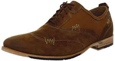 Rockport Men's Parker Hill Brogue Oxford,Cognac /Beige, 9.5 M US