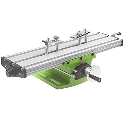 Jinwen 122518 Bench Drill Multifunction Worktable Milling Working Table Milling Machine Compound Drilling Slide Table