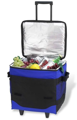 Picnic at Ascot 60 Can Collapsible Insulated Rolling Cooler -  Royal Blue (Soft Cooler On Wheels compare prices)