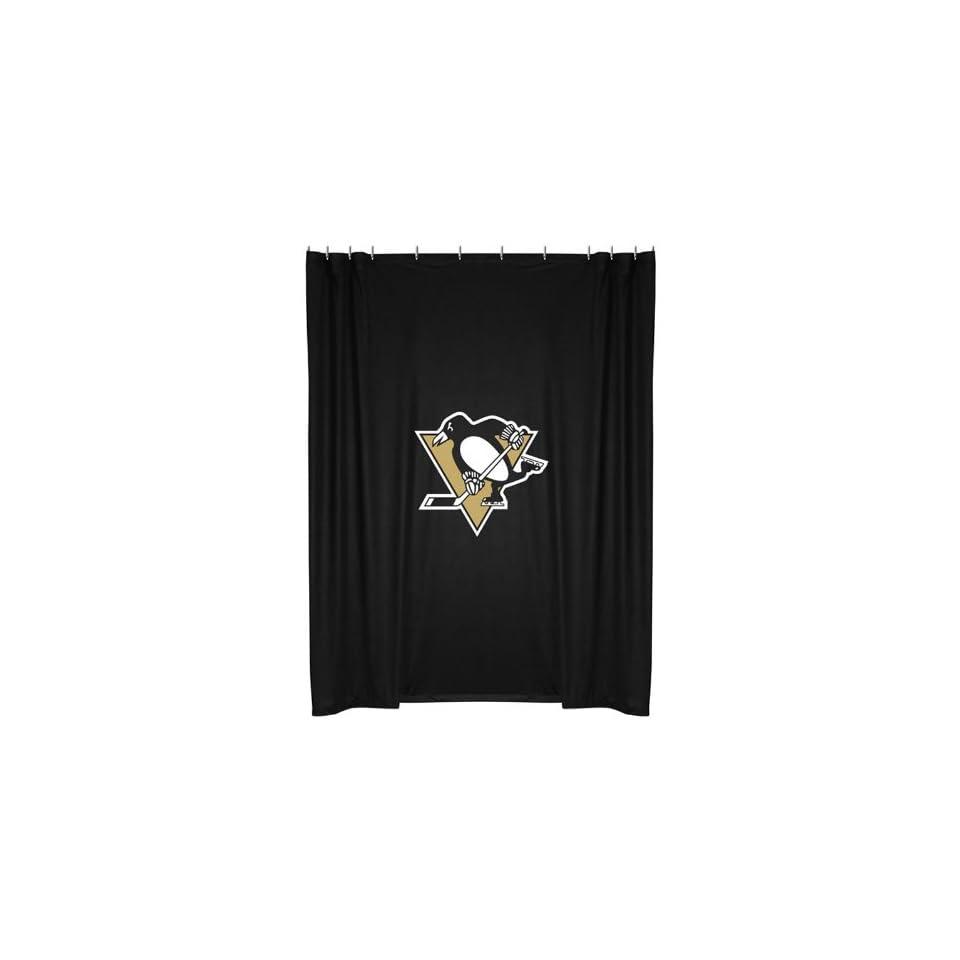 NHL Pittsburgh Penguins Hockey Shower Curtain
