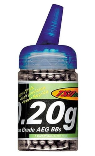 TSD Tactical 1,000 ct. Feeder Bottle Plastic Black Airsoft BBs (6mm, 0.20g)
