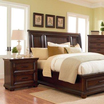 Standard Furniture Vineyard 2 Piece Platform Bedroom Set in Tobacco
