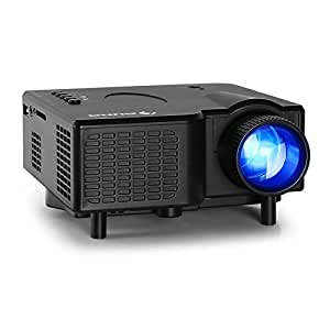 Klarstein LCDP-YX4B Mini Videoprojecteur LED Projecteur video portable (Contraste 300:1, 320 x 240, USB slot) - noir (Import Allemagne)