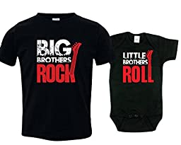 Big Brothers and Little Brother Sibling Shirt Set, Includes Size 3 and 3-6 mo