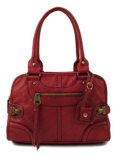 Scarleton Vintage Satchel H106810 - Red