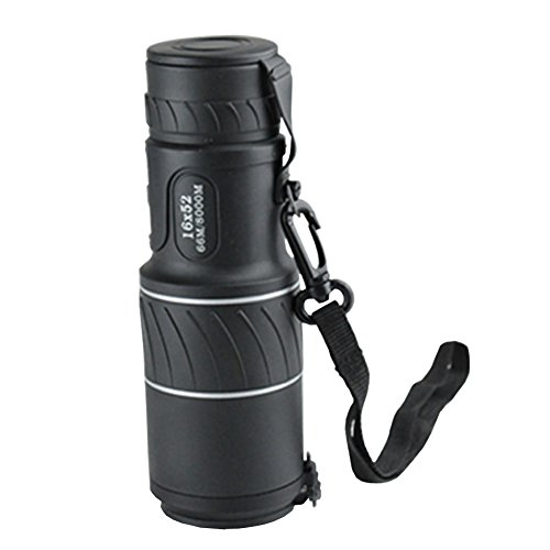 Find Discount TOMO 16 X 52 Dual Focus High Powered Monocular Telescope with Lens Dust Covers for Bir...