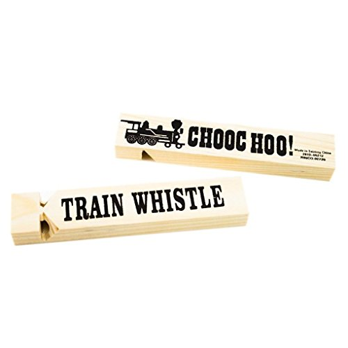 Mememall Fashion 12 pc Dozen Wooden Wood Toot Toot Train Whistles Children Party Favors Toy (12 Wood Train Whistles compare prices)