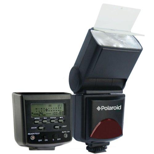 Polaroid PL-144AZ Studio Series Digital Power Zoom TTL Shoe Mount AF Flash With LCD Display For The Canon Digital EOS Rebel T3i, T3, T1i , T2i, XSI, XS, XTI, XT, 60D, 50D, 40D, 30D, 20D, 10D, 5D, 1D, 5D Mark 2, 7D Digital SLR Cameras