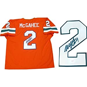 Willis McGahee Autographed University of Miami Hurricanes Jersey by Hollywood+Collectibles