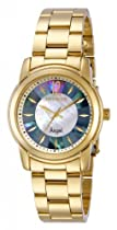 Invicta Angel Mother Of Pearl Dial Gold Ion-Plated Stainless Steel Ladies Watch 12630