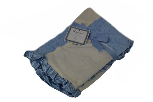 Patchwork Collection Reversible Soft Baby Blanket Blue