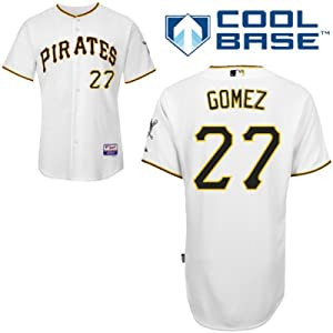 Jeanmar Gomez Pittsburgh Pirates Home Authentic Cool Base Jersey by Majestic by Majestic