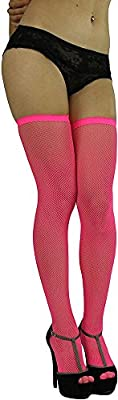 ToBeInStyle Women's Bright Exotic Long Fishnet Thigh High Socks Hosiery