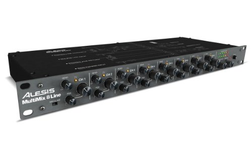 Alesis MultiMix 8 Line | Eight-Channel Stereo Line Mixer (8 Channel Stereo Line Mixer compare prices)