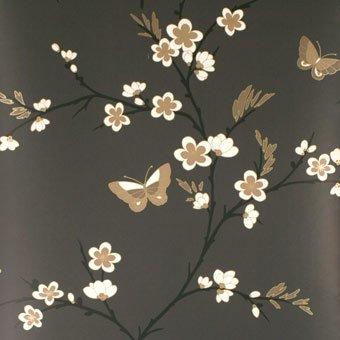 Wallpaper Spring Blossom Wallcovering Cream/Black