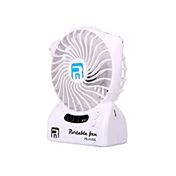 Momoday Mini Fan USB Rechargeable Batterry LED Light Fan Stylish Portable Cool Fan with Aromatherapy Function For Hot Summer,Outdoor Travelling, Home and Office,Indoor Activities (White)