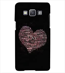 ColourCraft Love Heart Back Case Cover for SAMSUNG GALAXY E7