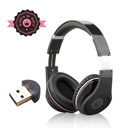 Ax650 Black Dual Speakers Bass Stereo Bluetooth Wireless Music Headset Perfect Isolation Outside Sound Big Earmuffs