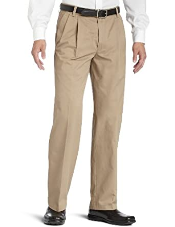 Dockers Men's Pleated True Chino Pant, Khaki, 30x30