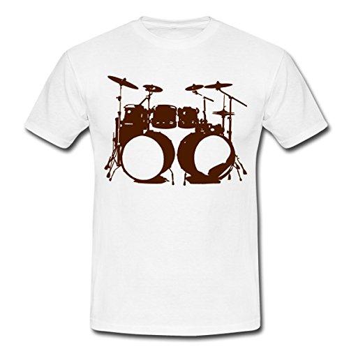 Schlagzeug-Drums-Drummer-Schlagzeuger-Musik-instrument-double-bass-Mnner-T-Shirt-von-Spreadshirt