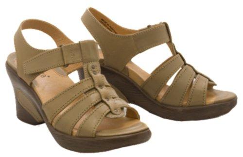 SANITA Sofia Womens SZ 8 Beige Stone/99 Platforms Wedges Open-Toe Shoes