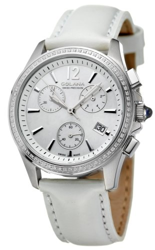 Golana Aura Pro Swiss Made Ladies Diamond Set Chronograph Watch AU200.6