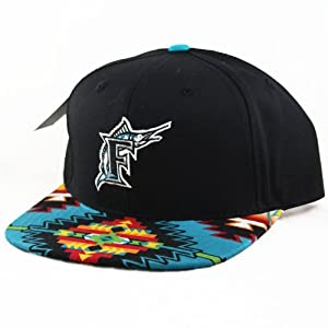 Florida Marlins Custom Navajo Snapback Hat Cap by Agora Vintage